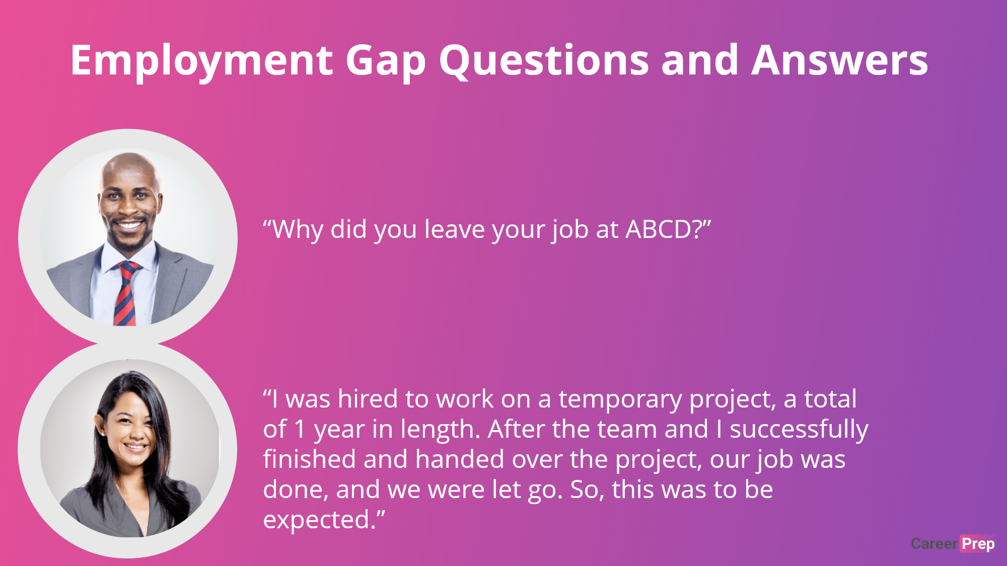 Employment Gap Question and Answer