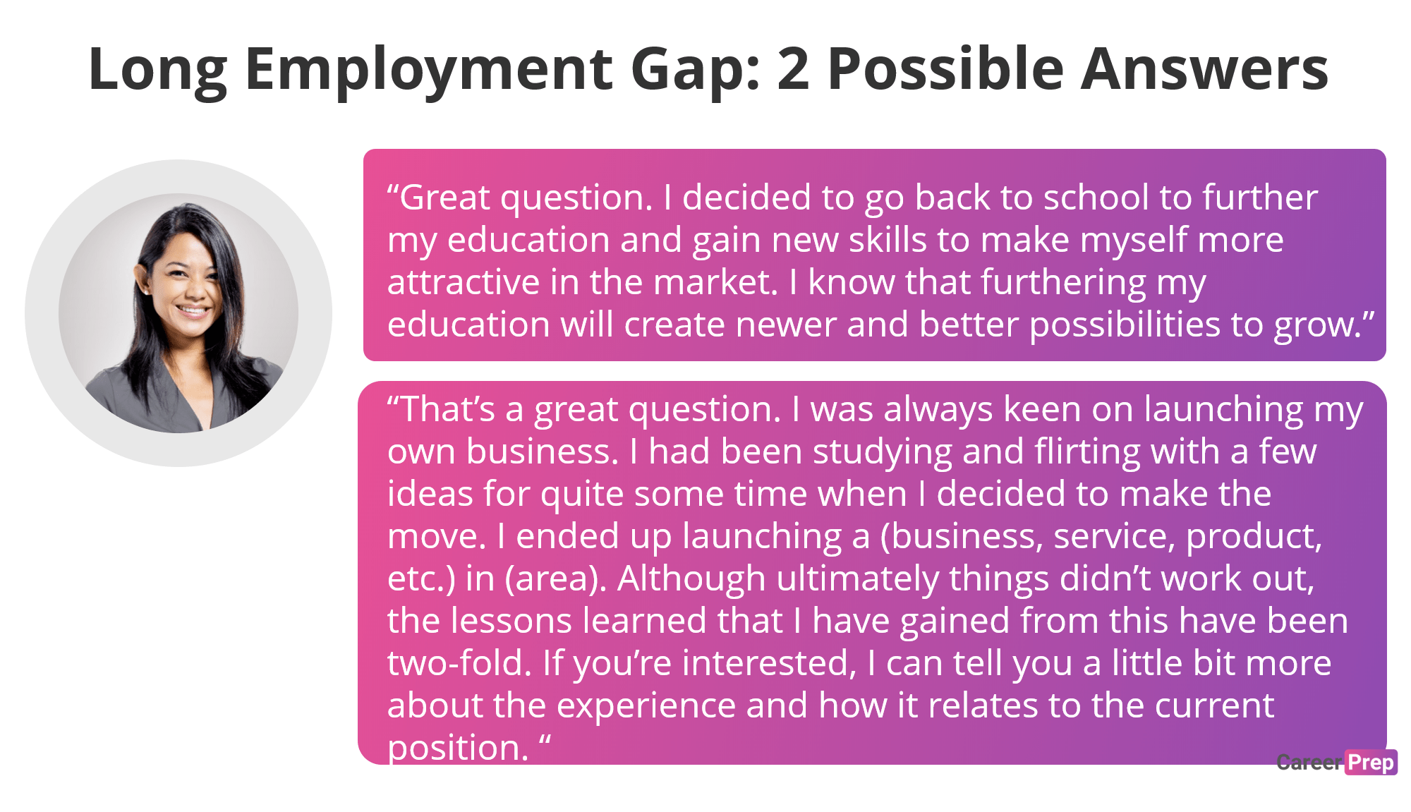 Long Employment Gap - 2 Possible Answers